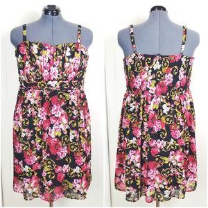 TORRID Rose Floral Fit & Flare Dress